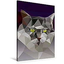 Premium Textil-Leinwand 60 cm x 90 cm hoch, Katze | Wandbild, Bild auf Keilrahmen, Fertigbild auf echter Leinwand, Leinwanddruck (CALVENDO Tiere)