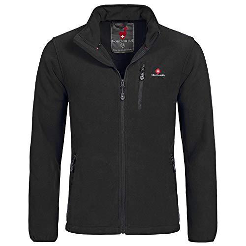 Schwarze Fleece-sweatshirt (Höhenhorn Eigler Herren Fleece Jacke Full Zip Schwarz Gr. L)