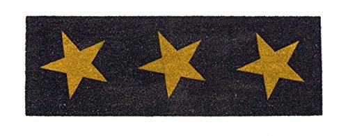 miaVILLA Kokosfußmatte Stars schwarz/gelb ca. B40 x L120 cm