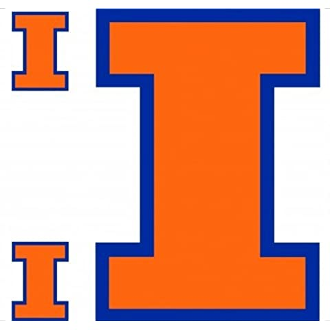 NCAA Illinois Illini da parete grande Accent