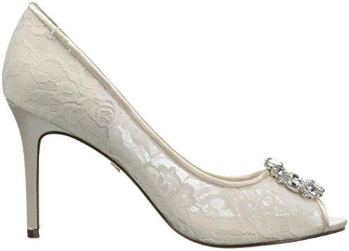 Nina Rhodes Peep Zehe Maschenweite Stöckelschuhe Ivory