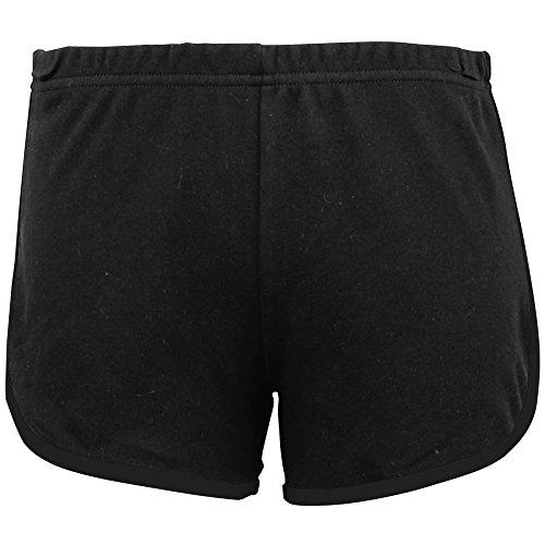 American Apparel - Short de sport en coton - Femme Gris/Fuchsia