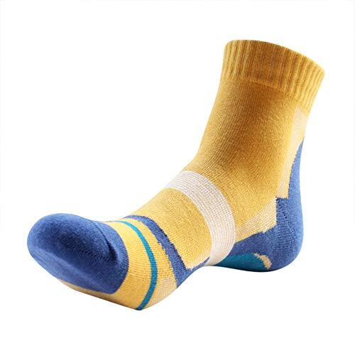 VCB Outdoor-Sport Basketball Fußball Laufen Wandern Fahrrad Radfahren Socken Socken - gelb -