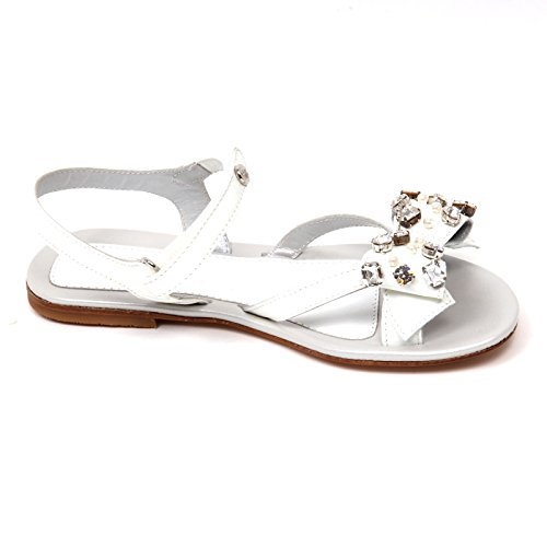 Bianco Sandalo Girl Blumarine Shoe Miss Bimba Scarpa Kid D0648 POk80Xnw