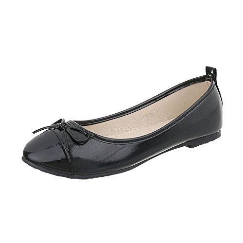 Ital-design Ballerine Classiche Scarpe Da Donna Ballerine Classiche Block Heel Block Heel Ballerinas Black Gaq-10