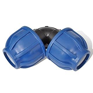 Festnight- 4 Stück PE Rohr Winkel Verschraubung UV-Stabilisiert für PE Schläuche/Rohre 20mm