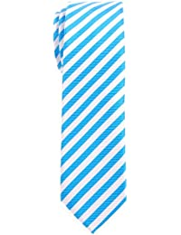 Retreez Striped Woven Skinny Tie Necktie - Various Colors