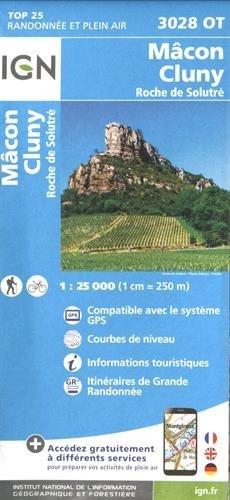 Macon - Cluny - Roche de Solutré 1 : 25 000