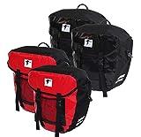 2X Red Loon Fahrrad Packtasche LKW Plane wasserdicht rot/schwarz
