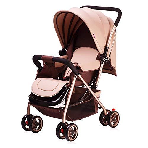 TYX Crossdresser High Landscape Kinderwagen Leichtgewichtler Faltbarer Allradwagen kann Sich hinsetzen können Tragbarer Baby Zweiwege-Kinderwagen,B
