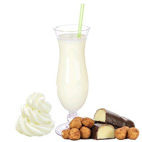 Marzipan Sahne Eiweißpulver Milch Proteinpulver Whey Protein Eiweiß L-Carnitin angereichert Eiweißkonzentrat für Proteinshakes Eiweißshakes Aspartamfrei (1 kg)