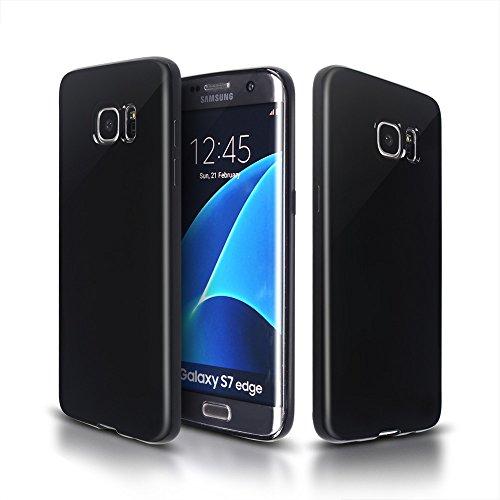 Arbalest Samsung Galaxy S7 Edge Hülle, Kratzfest Weich Flexibel Silikon TPU Schutzhülle Case für Samsung Galaxy S7 Edge Smartphone (5,5 Zoll) - Schwarz