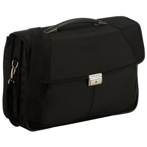 "Samsonite Cartella Intellio Briefcases Briefcase 3 Gussets 16"" 16 liters Nero (Black) 56333-1041"
