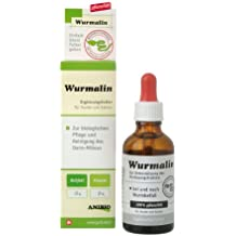 Anibio Wurmalin Ergänzungsfutter für Hunde und Katzen, 1er Pack (1 x 50 ml)