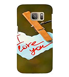 PrintVisa Love Quotes Design 3D Hard Polycarbonate Designer Back Case Cover for Samsung Galaxy S7 Edge