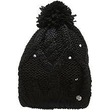 Roxy Tonic Beanie - Gorro con pompón para mujer, color negro, talla única