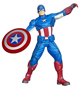 Hasbro 37495 Marvel The Avengers - Figura de El Capitán América  (Lanza el Escudo)