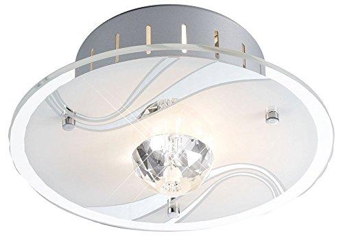 Diamante Decke (Design LED 1,9 Watt Leuchte Decken Lampe Beleuchtung Kristalle Glas Metall DIAMANTIS)