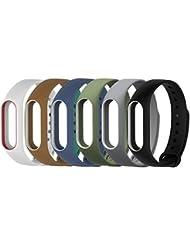 Yincol Smart Mi band 2 Ersatzband Replacement band + Anti-Luftblasen Kristall zu schützen Schutzfolie for Xiaomi miband 2 wristband(No Tracker)