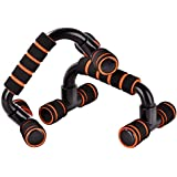AB SALES ABS Unisex Wrist Waist Body Strength Workout Push Up Bar with Non-Slip Dip Stand Handle Set for Home Gym(Multicolour)- 1 Pair
