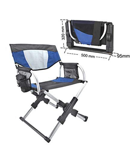 Dceer Camping Stuhl Outdoor-Regiestuhl Aluminium Licht tragbare Klappstuhl Strandhocker (Farbe : Blau)