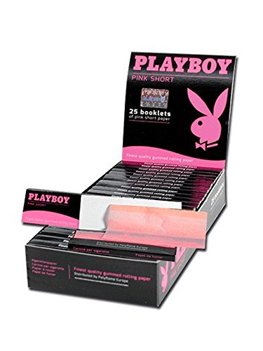 playboy-pink-short-rolling-papers-box-of-25-booklets-finest-qulaity-gummed-pink-rolling-papers