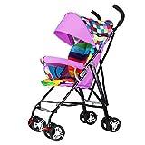 Baby carriage Kinderwagen - Leichtes Faltbares Neugeborenes Kinderwagen Reisesystem Bis 25 kg für 0-3 Jahre Jungen und Mädchen
