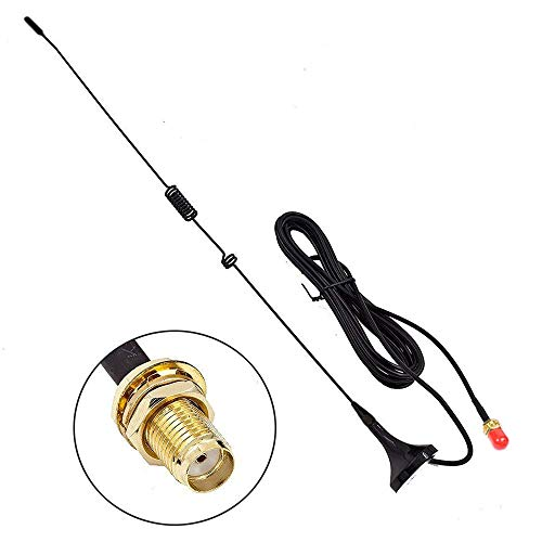 UT-106UV 144/430 MHz 3Db SMA-Buchse Dual Band VHF + UHF Mini Auto Chuck Antenne Ham Radio Antenne für Walkies Talkies ()