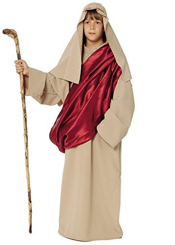 Stamco Costume San Giuseppe Travestimento Pastore del Presepe di Natale Bambino 8/10 Anni