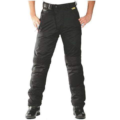 Roleff Pantalón de Motorista Racewear, Negro, XL