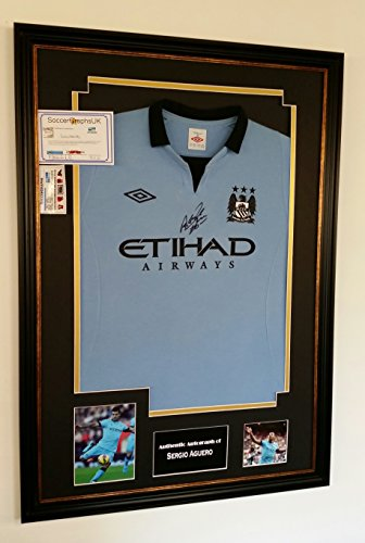 NEW-Sergio-Aguero-of-Manchester-City-Signed-Shirt