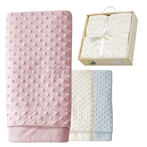 ERÖFFNUNGS-ANGEBOT Babydecke Mädchen rosa Kuscheldecke Baby rose Erstlingsdecke Set Decke super-weich Erstausstattung Geschenk Geburt 80x110 cm Neugeborene Spieldecke kuschelig Box