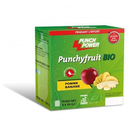 PunchyFruit Pomme - Banane Bio - 4 X 90 g