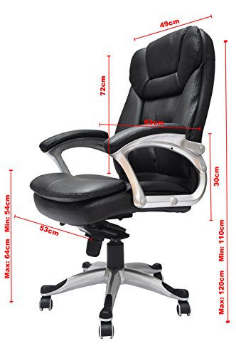 Executive Pu Leather Office Chair High Back Padded Seat