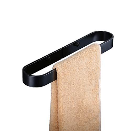 Porta asciugamani da bagno anello portasciugamani opaco nero in alluminio dello spazio, stile contemporaneo a parete, beelee ba9299b-30