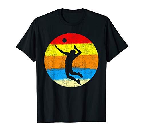 Vintage Volleyballer Aufschlag Beach Volleyball Spieler T-Shirt (Volleyball-shirts Für Die Trainer)