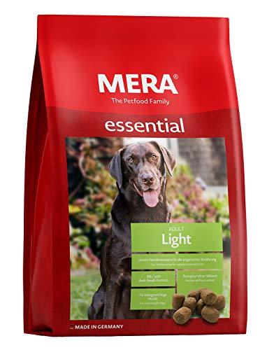 MERA essential Hundefutter Light, Trockenfutter mit einer Rezeptur ohne Weizen für übergewichtige Hunde, 1er Pack (1 x 12.5 kg)