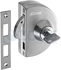 Ozone OPL-4A-N-S - Glass Door Lock with Strike plate (Without Cutout) - Finish: SSS