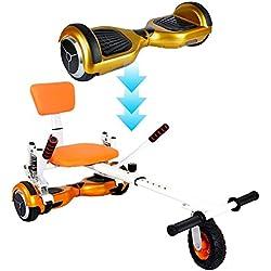 Novohogar Hover Kart para acoplar Hoverboard/Self-balance Scooter con amortiguador de choque y rueda delantera grande para terrenos escarpados