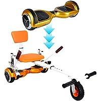 Hover Kart für Befestigen von Hoverboard/self-balance Scooter mit Stoßdämpfer Schock und Vorderrad groß für dazwischen herum novohogar