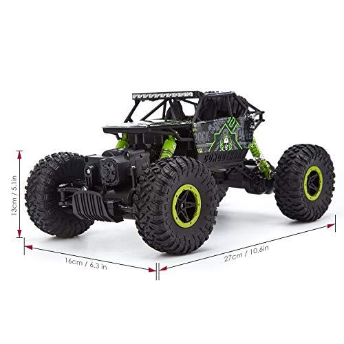 RC Auto kaufen Crawler Bild 4: H&B HB HB-P1803 Rock Crawler,CrossRace Ferngesteuertes, 1:18 RC Auto,4WD Monster Truck/Off Road Fahrzeug(Grün), Grün1*