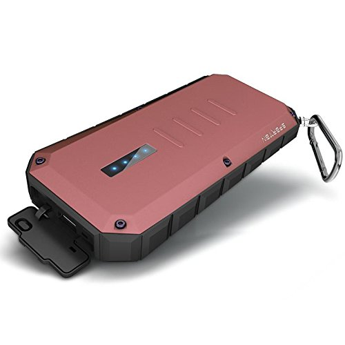iWALK Extreme Spartan - power banks (Lithium-Ion (Li-Ion), DC, USB, Red, Aluminium, Rubber, Smartphone, Tablet, Universal, Micro-USB)