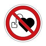 Keine Herzschrittmacher Aufkleber 20cm Schild Verbotsschild Design1 (10)
