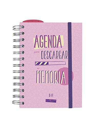 Finocam Talkual - Agenda 2018-2019 1 día página español, 120 x 169 mm, rosa