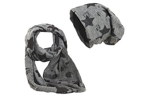 Shenky - Set cappello e scaldacollo - grigio scuro con