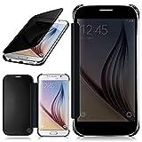 moex Samsung Galaxy S6   Hülle Transparent TPU Void Cover Dünne Schutzhülle Anthrazit Handyhülle für Samsung Galaxy S6 Case Ultra-Slim Handy-Tasche mit Sicht-Fenster