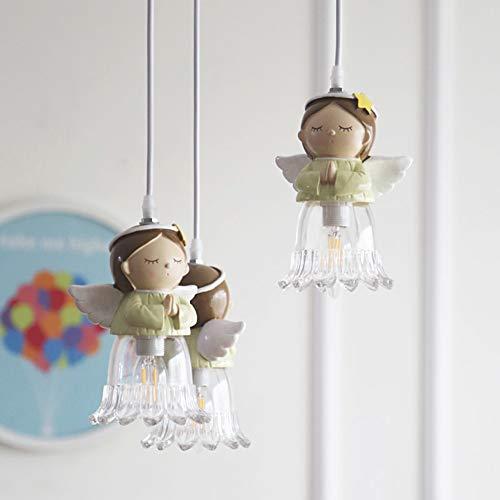 CUICAN Kleine engel Kinderzimmer Pendelleuchte Cute Glas klar Junge Mädchen Schlafzimmer Leuchte Home Dekoration-B Durchmesser30cm(12inch)