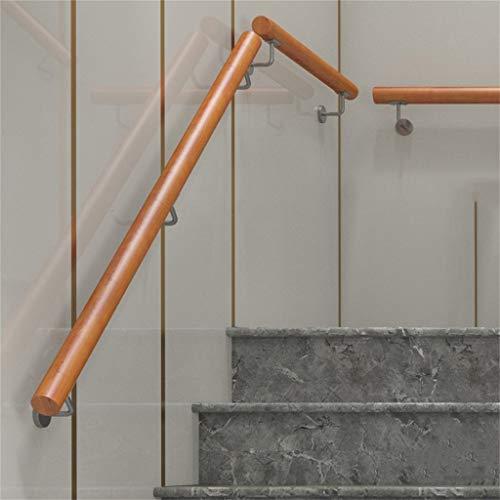 QDY-Terrassengeländer Treppengeländer mit Schrauben, Massivholz Haltegriff für Villas Bars Farm House, Größe: 300-600cm
