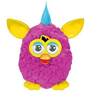 "Furby - A3149 - Jeu Électronique - Edition ""Hot Wild Colors"" - Furby Rose / Jaune - Version Française"