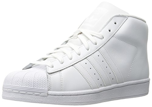 Adidas mens pro model white leather trainers 44 eu